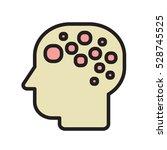 brain logo silhouette badges...   Shutterstock .eps vector #528745525
