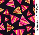 seamless vector background with ... | Shutterstock .eps vector #528753007