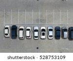empty parking lots  aerial view. | Shutterstock . vector #528753109