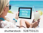 digital detox concept | Shutterstock . vector #528753121
