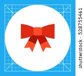 red bow icon | Shutterstock .eps vector #528755461