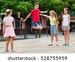 smiling  cheerful kids in... | Shutterstock . vector #528755959