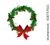 christmas wreath flat icon | Shutterstock .eps vector #528757021