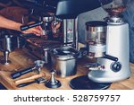 making coffee on professional...   Shutterstock . vector #528759757
