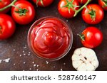 tomato ketchup sauce with... | Shutterstock . vector #528760147