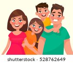family portrait. mom dad... | Shutterstock .eps vector #528762649