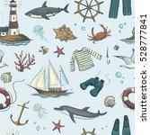 a seamless vector pattern sea... | Shutterstock .eps vector #528777841