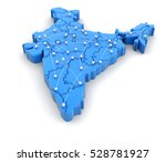 3d illusration. map of india... | Shutterstock . vector #528781927
