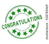 grunge green congratulations... | Shutterstock .eps vector #528783469