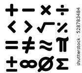 set of black math symbol... | Shutterstock .eps vector #528783484