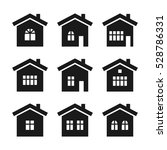 Stock vector house icon set 528786331