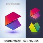set of abstract letter c... | Shutterstock .eps vector #528787255