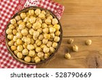 Uncooked Chick Peas In A Big...