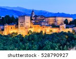 alhambra of granada  spain.... | Shutterstock . vector #528790927
