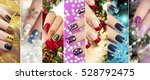 Colorful Christmas Nails Winte...