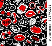 black  red and white fun... | Shutterstock .eps vector #528793231