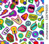 colorful fun seamless pattern... | Shutterstock .eps vector #528795055