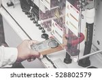 an engineer working on checking ... | Shutterstock . vector #528802579