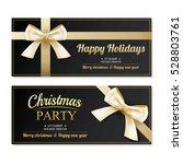 invitation merry christmas... | Shutterstock .eps vector #528803761