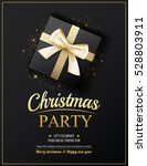 invitation merry christmas... | Shutterstock .eps vector #528803911