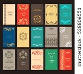 vector set of ornate vertical... | Shutterstock .eps vector #528806551