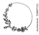 vector vintage floral wreathes. ... | Shutterstock .eps vector #528807121