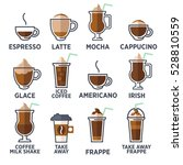 Coffee Types Or Kinds Set....
