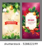 christmas vertical banners with ... | Shutterstock .eps vector #528822199