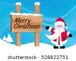 Santa Claus With Wood Sign...