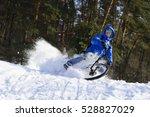 Cyclist Extreme Riding Mountai...