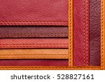 leather samples with stitches ... | Shutterstock . vector #528827161