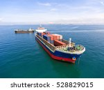 container container ship in... | Shutterstock . vector #528829015