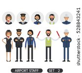 stewardesses  pilots  security... | Shutterstock .eps vector #528843241