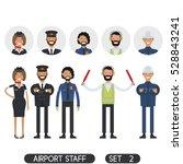 stewardesses  pilots  security...   Shutterstock .eps vector #528843241