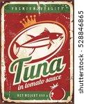 tuna fish in tomato sauce...   Shutterstock .eps vector #528846865
