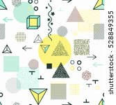 trendy geometric elements... | Shutterstock .eps vector #528849355