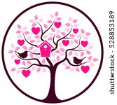 Vector Heart Tree With Nesting...