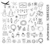 set of christmas doodles | Shutterstock .eps vector #528853225