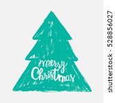 hand drawn christmas tree with...   Shutterstock .eps vector #528856027