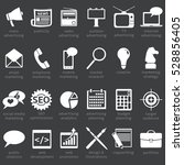 vector set of advertising icons.... | Shutterstock .eps vector #528856405