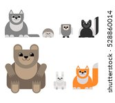 animals of the forest in the... | Shutterstock .eps vector #528860014