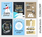 set of hand drawn christmas and ... | Shutterstock .eps vector #528861589