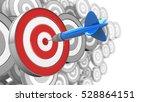 3d illustration of dart with...   Shutterstock . vector #528864151
