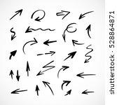hand drawn arrows  vector set   Shutterstock .eps vector #528864871