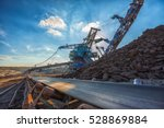 long conveyor belt transporting ... | Shutterstock . vector #528869884