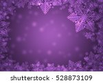 Purple Christmas Frame.