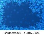 blue christmas frame. | Shutterstock . vector #528873121