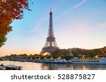 cityscape with the eiffel tower ... | Shutterstock . vector #528875827
