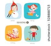 seasons child's outdoor... | Shutterstock .eps vector #528888715