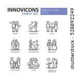 family   modern vector thin... | Shutterstock .eps vector #528892249